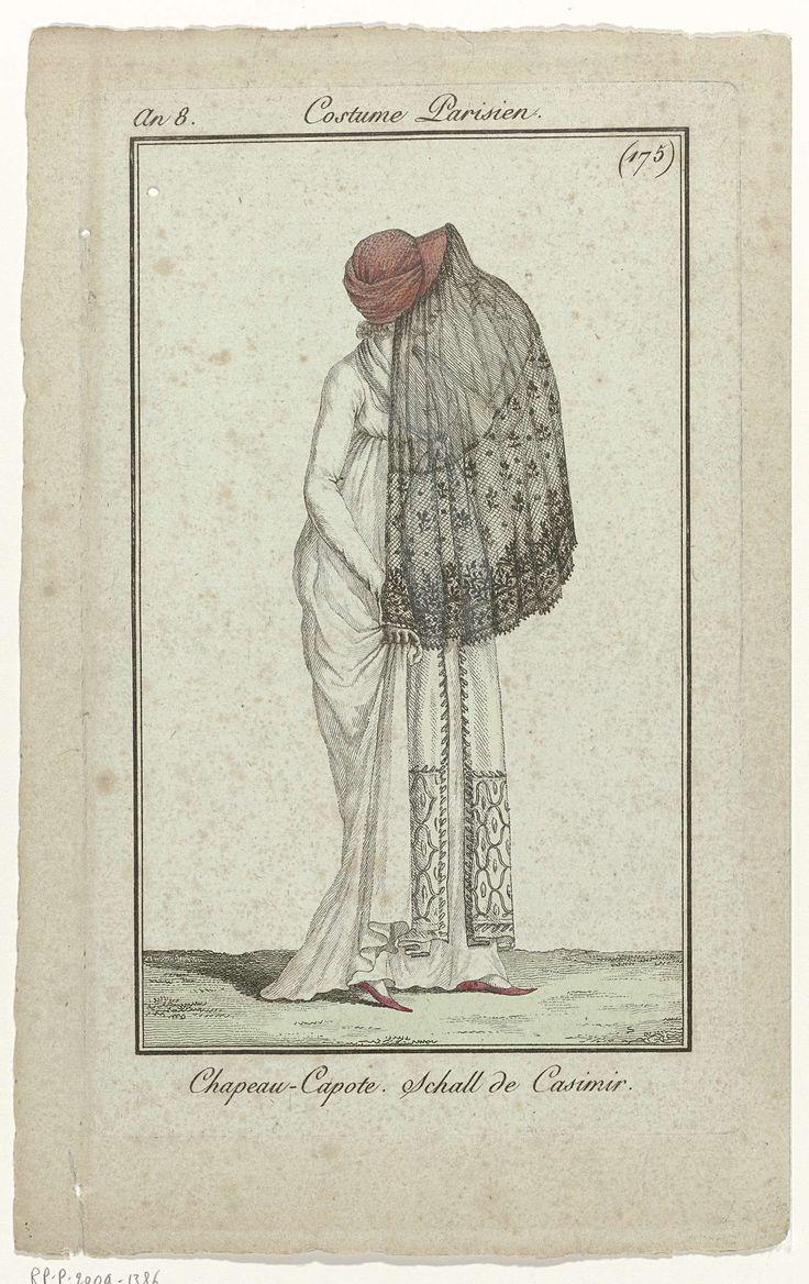 Journal des Dames et des Modes, Costume Parisien, 1 décembre 1799, An 8 (175) : Chapeau - Capote..., Anonymous, 1799