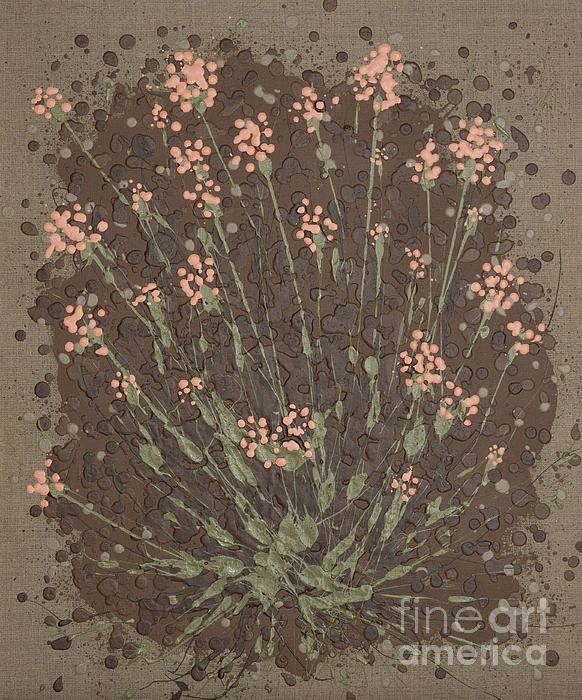 Semi-abstract flowers. Acrylic splash/splatter painting by Alexandra Kiczuk, 2017.