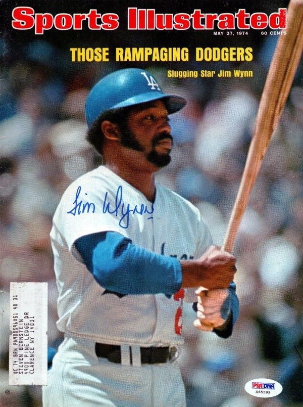 Jim Wynn Autographed Signed SI Magazine Los Angeles Dodgers PSA/DNA #X65599