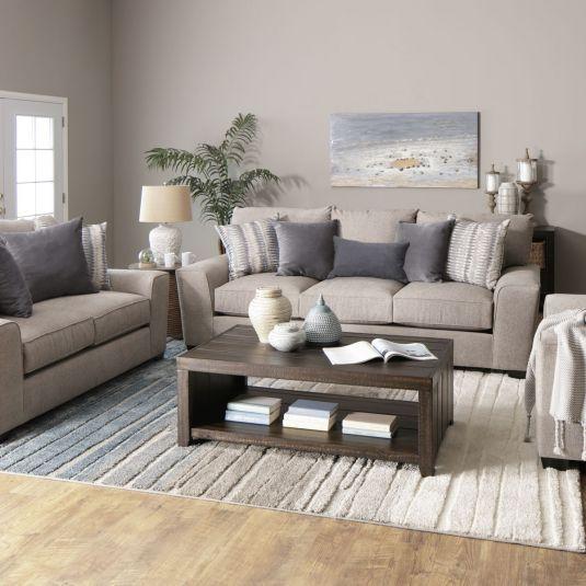 Premium Fabric Premium Dream Seating Oversized Sofa Material Durable Polyester Fabric Beige Couch Living Room Loveseat Living Room Living Room Decor Gray