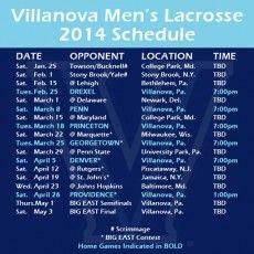 Men's lacrosse: Villanova releases 2014 schedule; includes 10 ranked teams - http://phillylacrosse.com/2013/10/22/mens-lacrosse-villanova-releases-2014-schedule-includes-10-ranked-teams/