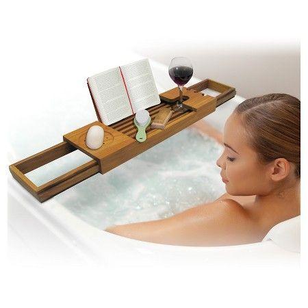 Teak Bathtub Caddy Sharper Image : Target