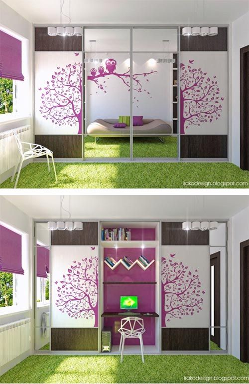 Best 25 green girls bedrooms ideas on pinterest for Purple and pink bedroom ideas