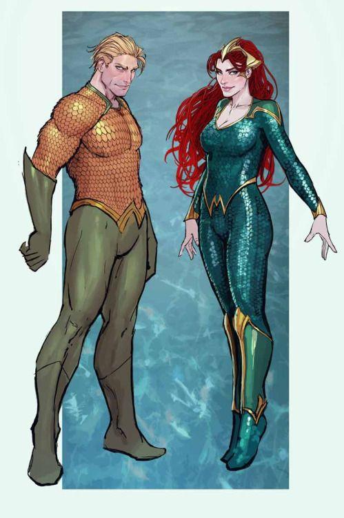 Aquaman & Mera - Stjepan Sejic