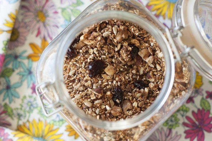 Hjemmelaget granola - funnet på bloggen spisgront.wordpress.com