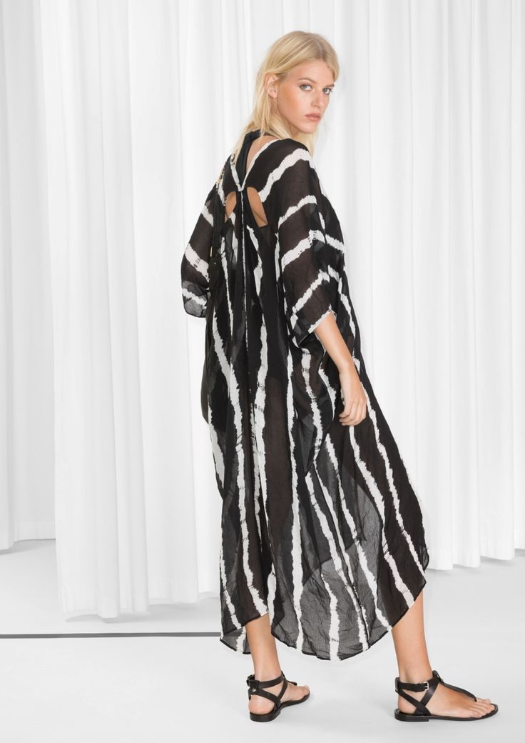 & Other Stories image 3 of Tie-Dye Caftan  in Black