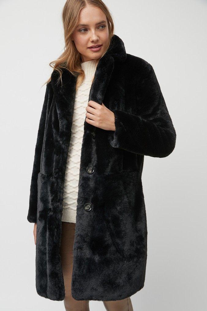 Womens Next Black Faux Fur Coat Black Black Faux Fur Coat Fur Coat Black Fur Coat