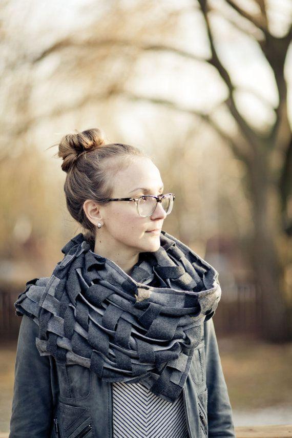 Grey Scarf Wraps Shawls Unique Handmade Scarves Blanket Scarf Handwoven Oversize Scarf Weaving Fashion Scarves Womens Scarves Warm Shawl Lap