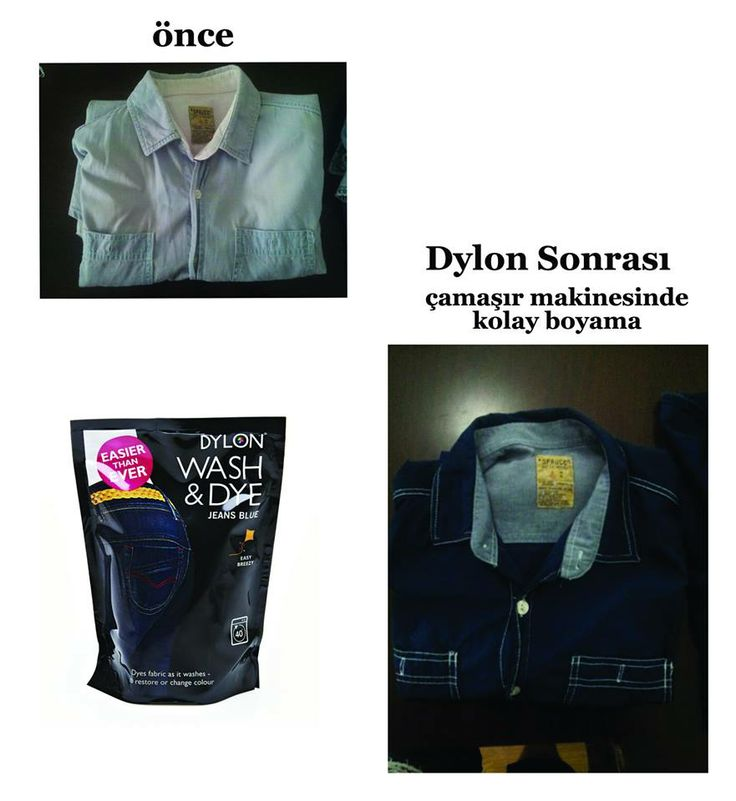 Levent Çalışkanın 15 yıllık atmaya kıyamadığı gömleği, DYLON Wash & Dye Blue Jeans (Kot Rengi) ile yenilendi...