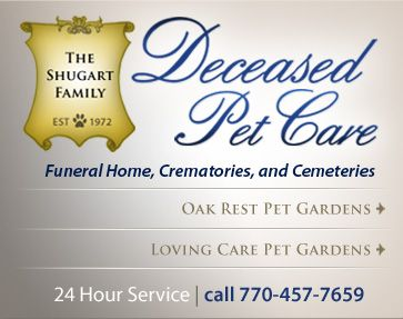 Pet Cremation Services for Atlanta, Georgia Deceased Pet Care Funeral Homes