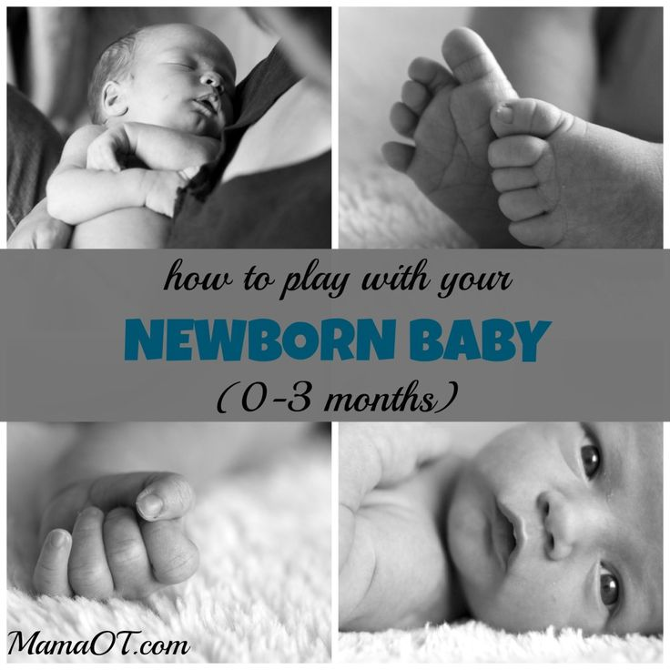How to play with your newborn baby. Tips from a pediatric occupational therapist and mom of two.