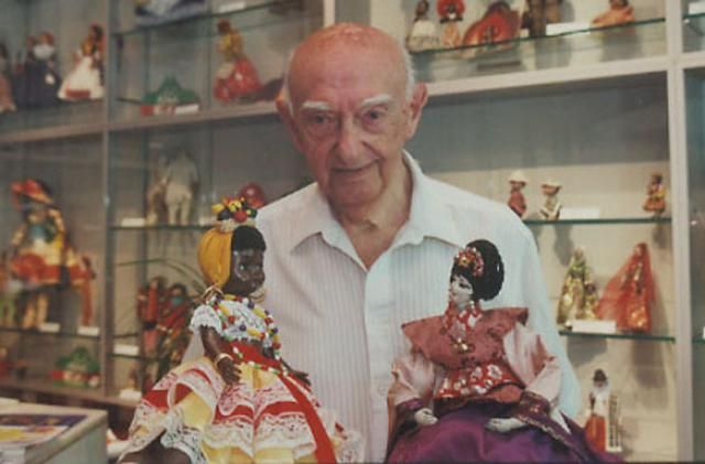 Dolls as Goodwill Ambassadors: The King of Dolls with part of his Collection