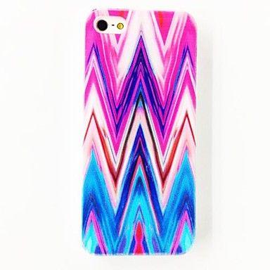 Punk Farverige Strips Hill mønster Polycarbonat hårdt etui til iPhone 4/4S - DKK kr. 45