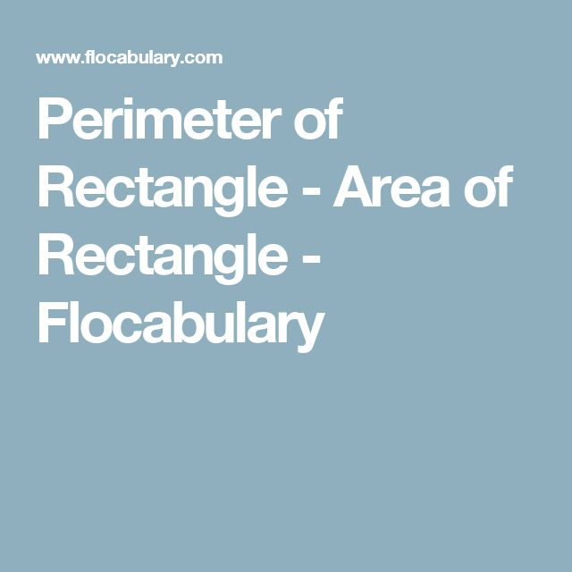 how to find area from perimeter of rectangle