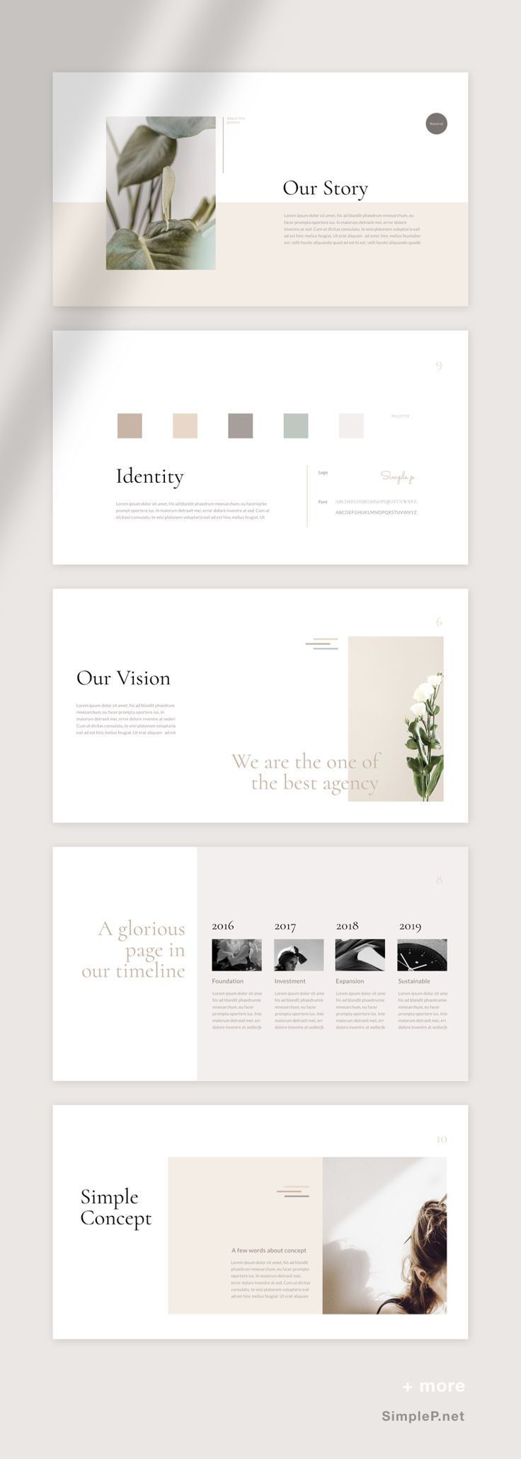 Neutral PowerPoint Template🌷🌷 This multi – p…