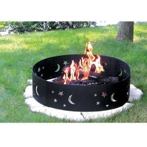 CobraCo, Evening Sky Steel Fire Pit Ring, FRSTAR369 at The Home Depot - Mobile