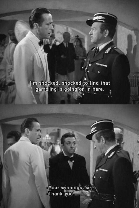 Casablanca movie quote gambling tips on casino