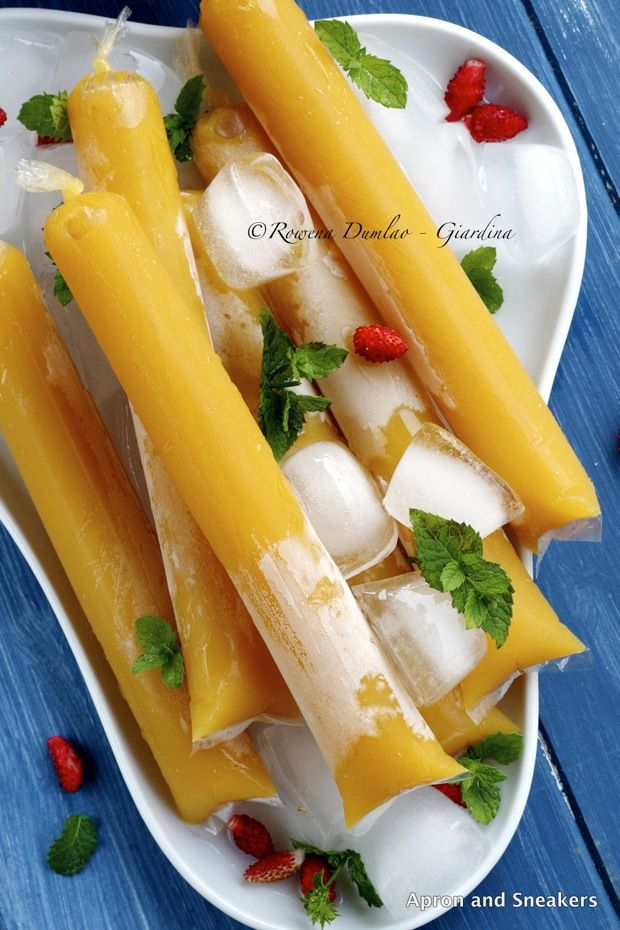 Apron and Sneakers - Cooking & Traveling in Italy and Beyond: Mango Ice Candy: Philippine Ice Pop