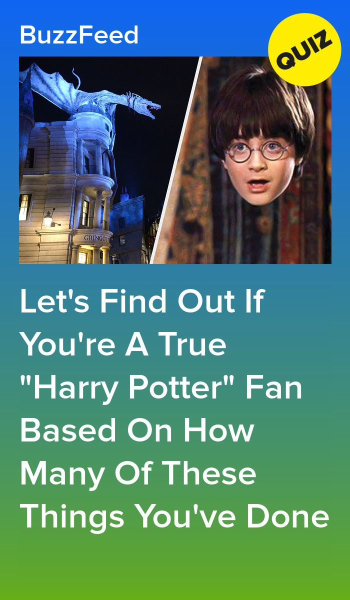 Only True Harry Potter Fans Have Done All These Things Harry Potter Harry Potter