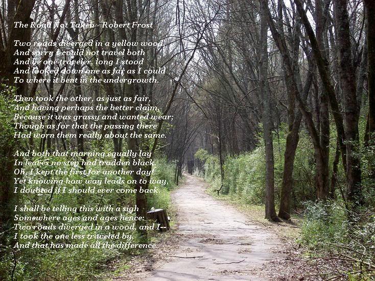 robert frost sonnet the road not taken