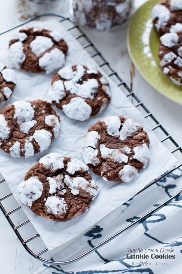 y.u.m.  :::  Nutella Cream Cheese Crinkle Cookies from @TheLittleKitchn.