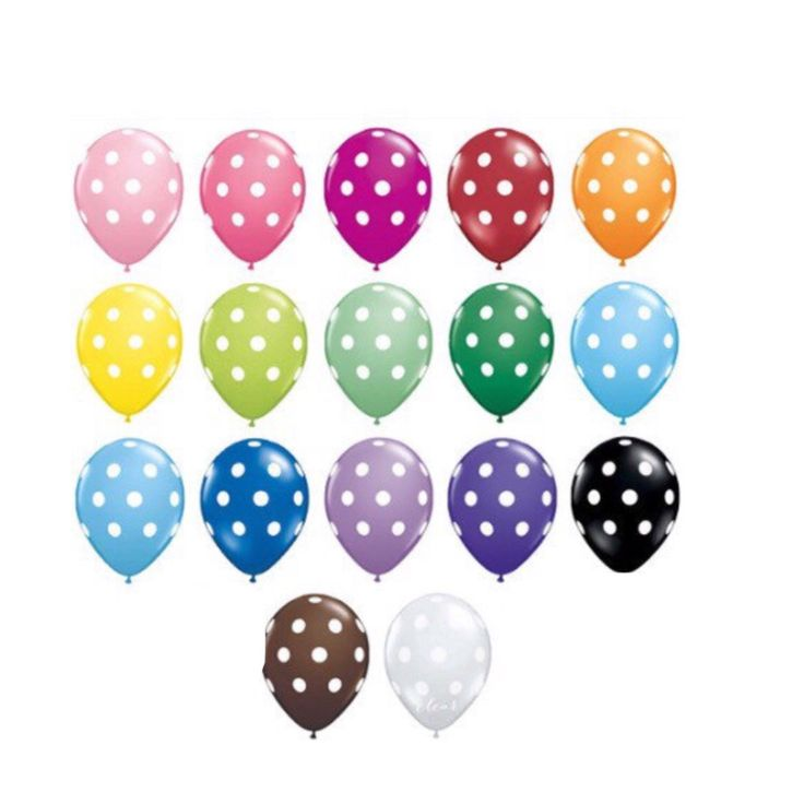 """11"""" Polka Dot Balloons Pkg/10 Latex High Quality Made in USA Big Balloon Wedding Bridal Party Shower baby by PartyHaus on Etsy https://www.etsy.com/listing/244292828/11-polka-dot-balloons-pkg10-latex-high"""
