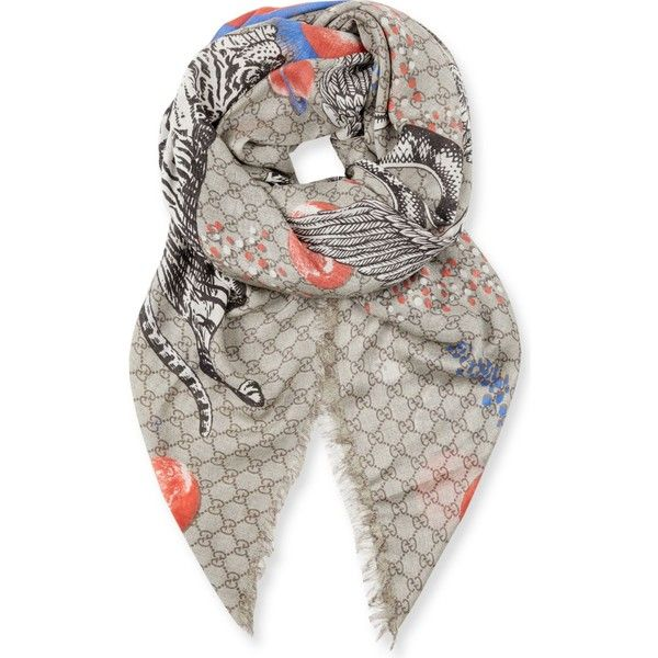 Gucci Space Animals woven scarf (6,945 MXN) ❤ liked on Polyvore featuring men's fashion, men's accessories, men's scarves and gucci