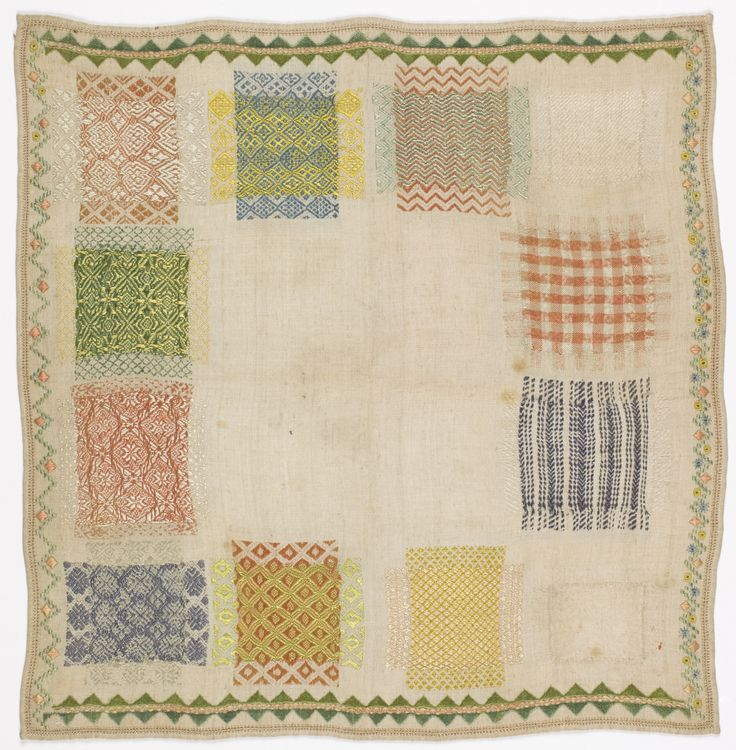 Darning Sampler, early 19th century | Objects | Collection of Cooper Hewitt, Smithsonian Design Museum