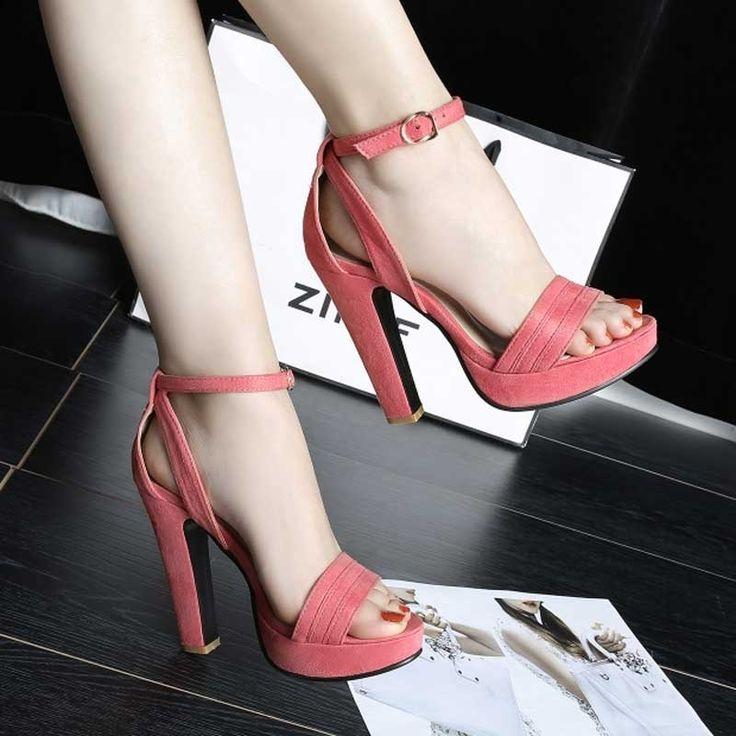 Shoespie Solid Color Sandals #Sandals #Shoes