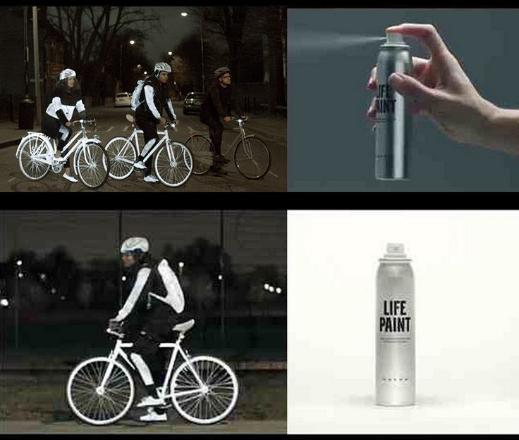 Reflective Paint For Bikers At Night