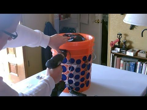 "DIY Air Filter! The ""5 Gallon Bucket"" Air Filter. Awesome Air Purifier. Can be run On or Off-Grid (w/battery or solar panel). full instructional video. fan i..."