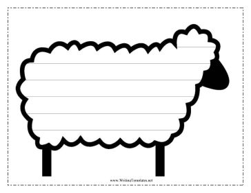 Sheep Writing Template Writing Template, free to download and print