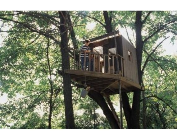 How to build a simple but cool tree house for for Simple tree fort ideas