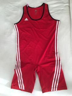 Men's XL Adidas Wrestling Singlet RED - http://sports.goshoppins.com/team-sports-equipment/mens-xl-adidas-wrestling-singlet-red/