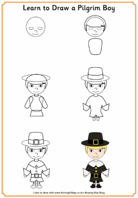 Learn to Draw Pilgrim Boy