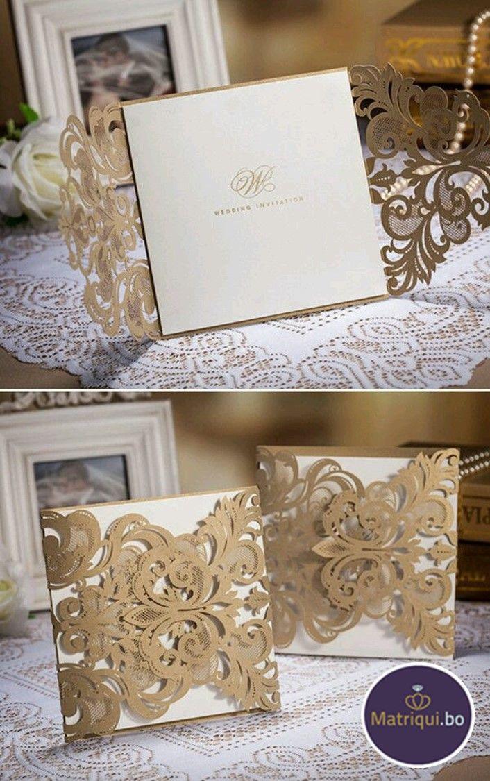 Demuestra tu elegancia y delicadeza desde tus invitaciones. www.matriqui.bo