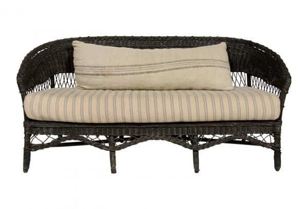 1920s European Wicker Sofa