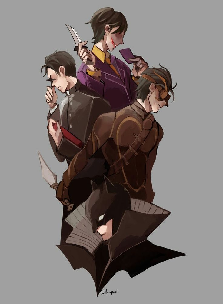 Robins alternate earth where dick becomes a talon, Jason becomes a priest, Tim becomes the joker and Damian becomes batman