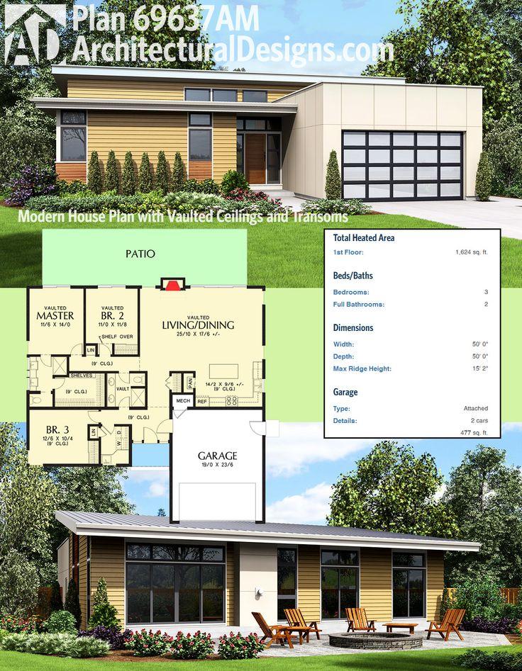 Surprising 17 Best Images About Modern House Plans On Pinterest Decks Largest Home Design Picture Inspirations Pitcheantrous