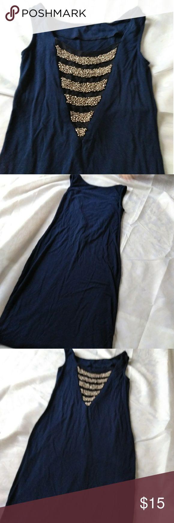 🍩5/$25 ASOS navy mini dress Size 2. Beading on back of dress ASOS Dresses Mini