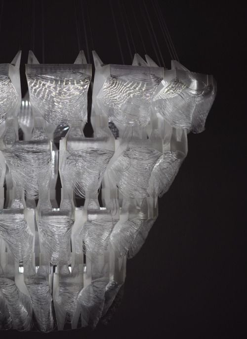 slovarchzine: Luster (3D printed chandelier) by Sylvia...