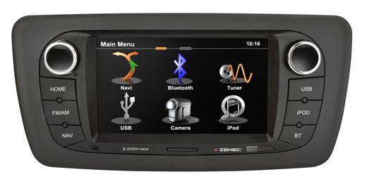 #Zenec Z-E5514M - Pasklare navigatie voor een #Seat #Ibiza 6J. Perfecte pasvorm. Uiterst fijne bediening via touchscreen WVGA display. Parrot bluetooth carkit functie en film kijken in de auto vanaf USB of iPhone. Met de USB en iPod, iPhone ingang kunt u al uw muziek beluisteren met geweldige kwaliteit. Zelfs Bluetooth Audio streaming is mogelijk. Al uw originele functies blijven zoals stuurbediening en PDC.