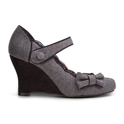 Joe Browns Grey fun and flattering wedge shoes | Debenhams