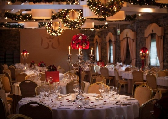 Christmas wedding at ballymagarvey village ballymagarvey for Christmas hall decorations