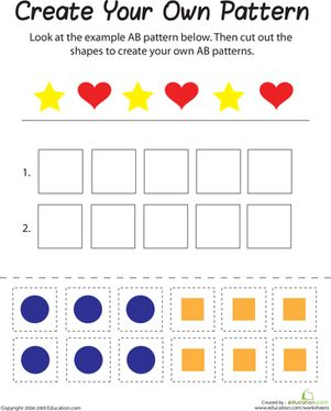 Help your child with their reason and logic skills with this printable worksheet, which is all about creating patterns.