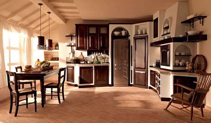 Cucine in finta muratura - Cucina in finta muratura bicolor