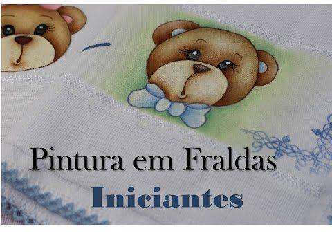 Pintando uma ursinha na Fralda - Iniciantes - YouTube
