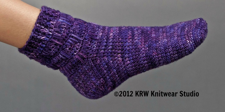 """Cuff-Down Crochet Socks - Intimidated by knitted socks? Learn to make simply easy crochet socks from the cuff down. Use your favorite sock yarn and learn a new stitch to create a softer fabric with toes and heels that are a bit heavier to prevent wearing out quickly. Learn the heel flap and gusset way of creating socks like I teach in my book,  """"I Can't Believe I'm Crocheting Socks."""" They are made all in one piece with just 2 ends to weave in when you are done."""