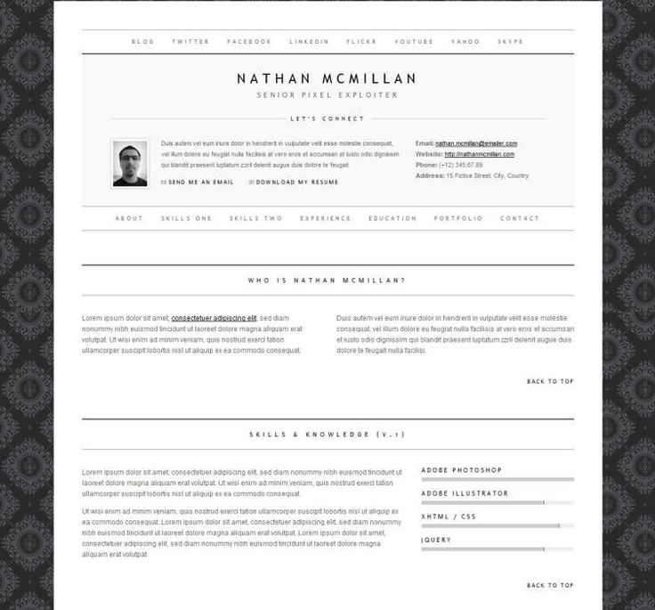 Best 25+ Online cv ideas on Pinterest Online cv template, Font - single page resume template