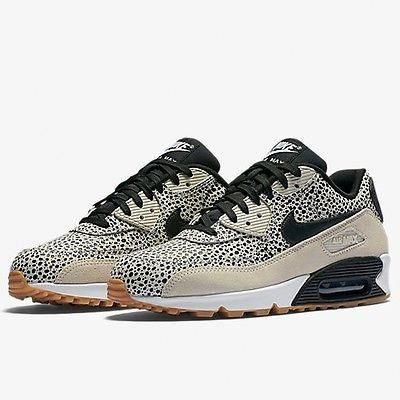 the best attitude fbf7d 26c07 Nike Air Max 90 Premium Womens 443817-102 White Safari Running Shoes Size 7   Womensshoes6.5Narrow